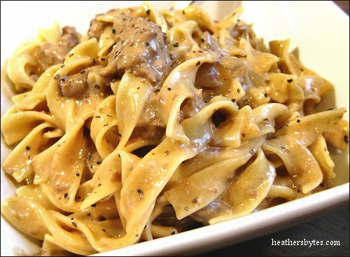 Heather's Bytes » Crockpot Beef Stroganoff