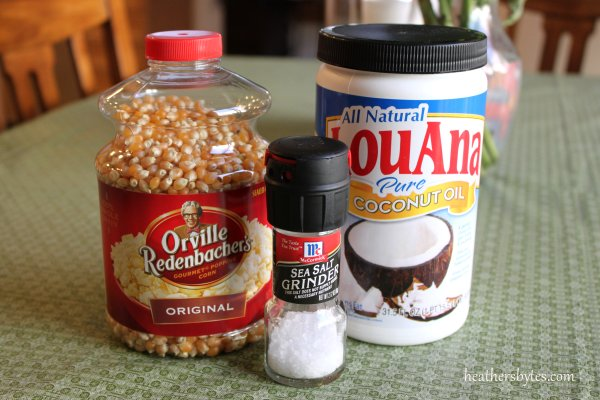 how to cook popcorn with coconut oil